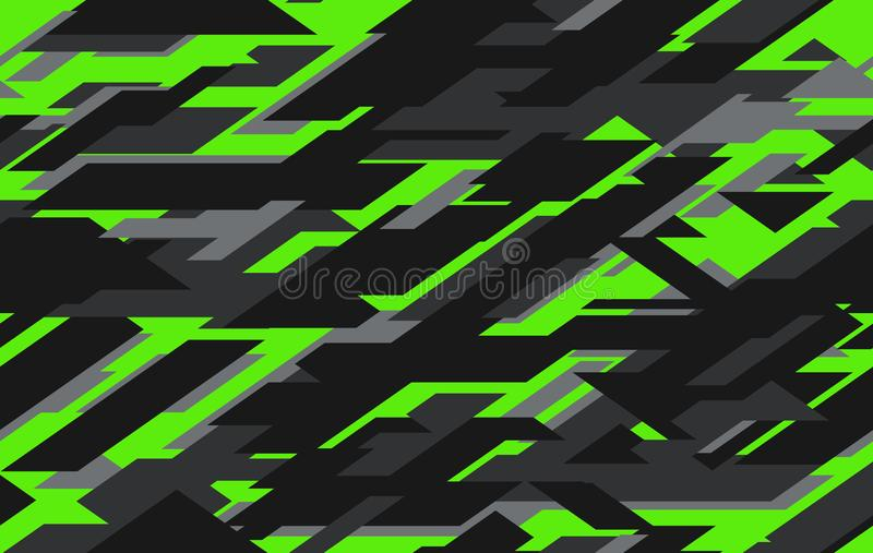 Modern military camo texture style background. Geometric camouflage seamless pattern. royalty free stock photo
