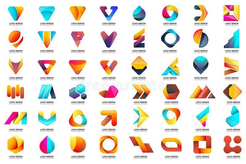 Modern Minimaal Vectorembleem voor banner vector illustratie
