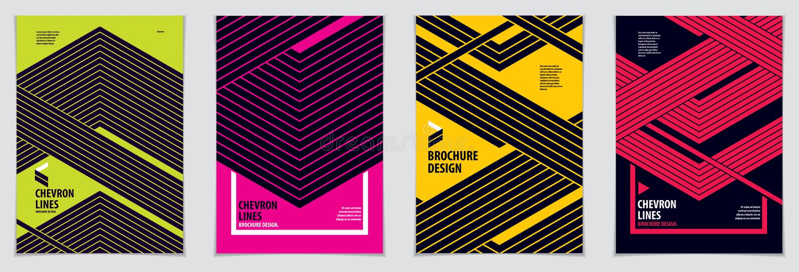 Modern minimal Template brochures, leaflets, posters. Vector geo royalty free illustration