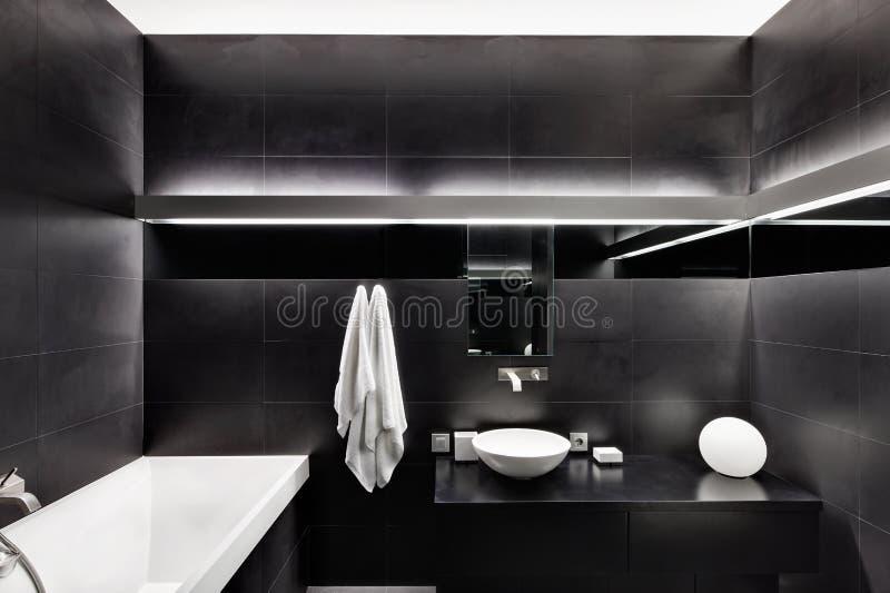 Modern minimalism style bathroom interior royalty free stock photography