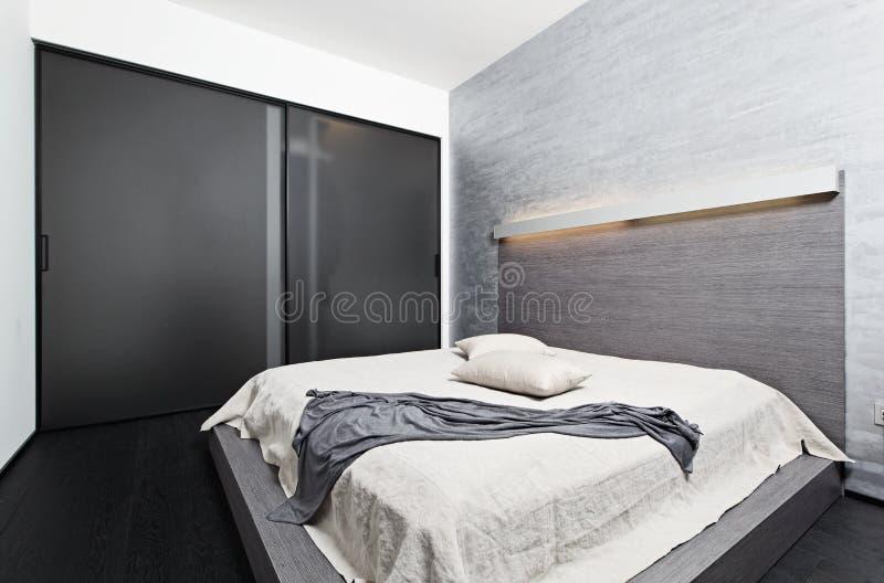 Download Modern Minimalism Style Bedroom Interior Stock Photo - Image: 26206664