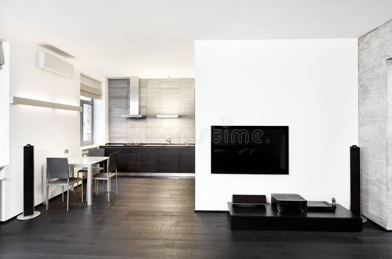 Modern minimalism style kitchen interior royalty free stock photos
