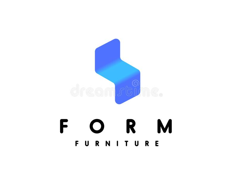 Modern Minimalistic Furniture Logo Template Stock Vector