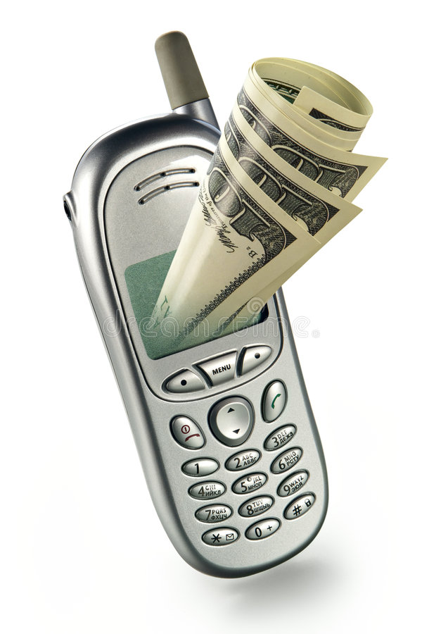 Modern mobile bank royalty free stock photo