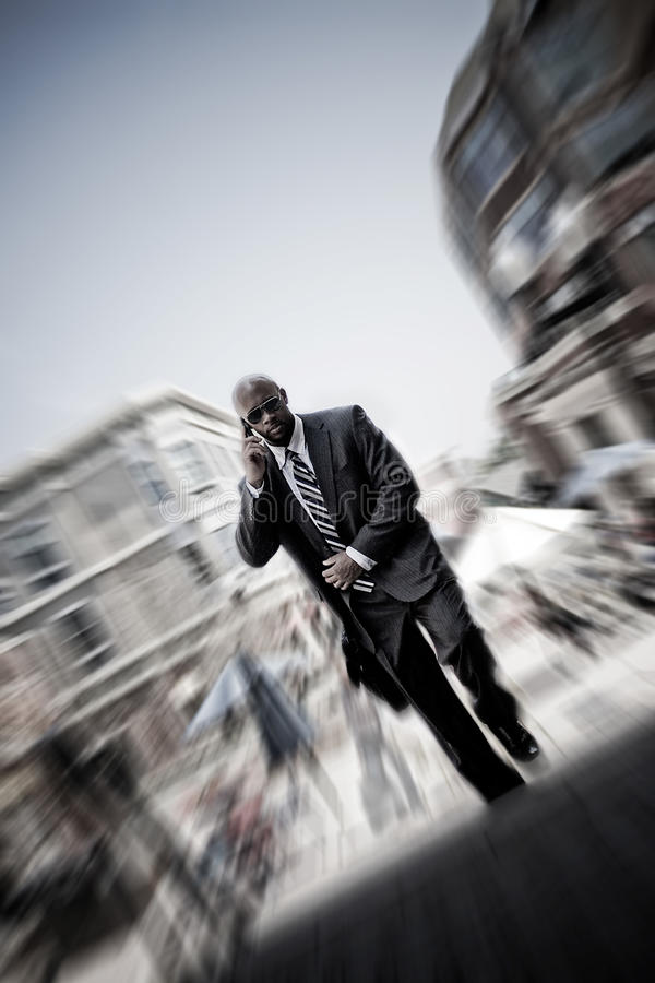Modern Mobile Business Man stock image