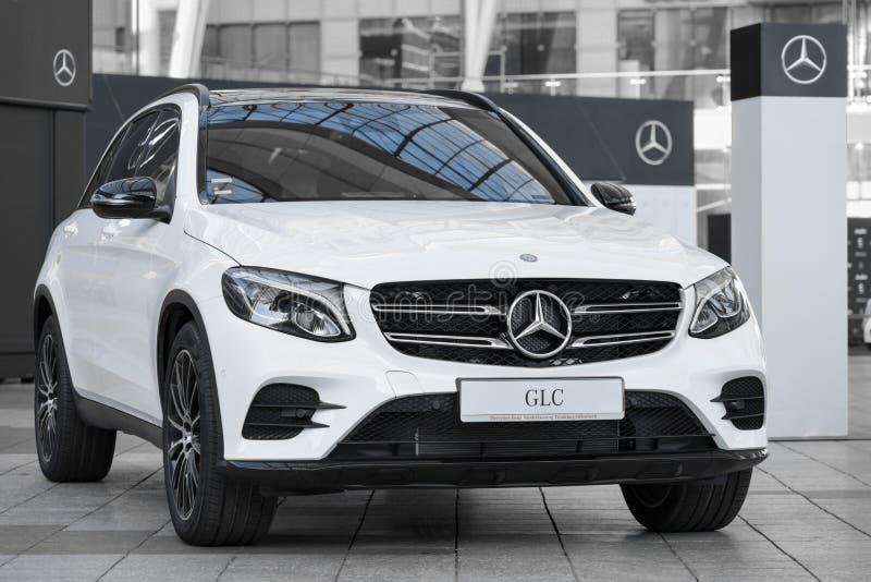 Modern model of prestigious Mercedes-Benz GLC-class SUV crossover royalty free stock photography
