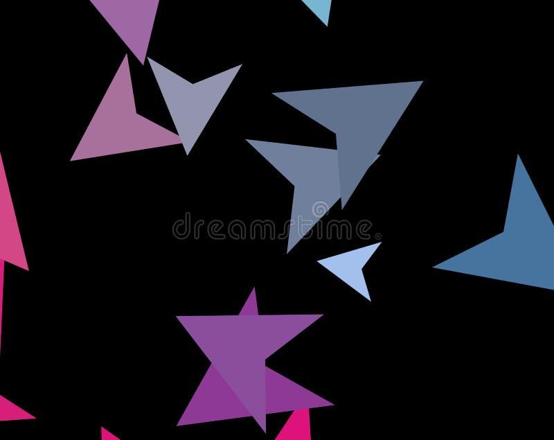 Modern modieus concept kleurrijke driehoeken op donkere achtergrond Abstracte Document vliegtuigen, pijlen, pijlpunten Vector ill vector illustratie