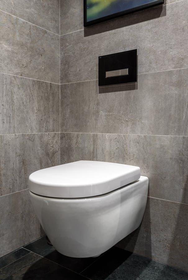 Modern modieus toilet in een hotel of woonhuis royalty-vrije stock afbeeldingen