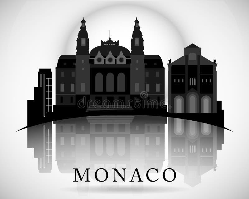 Modern Monaco Skyline Design. Vector illustration stock illustration