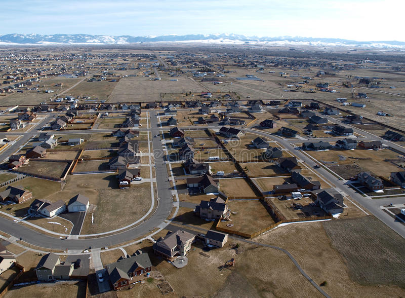 Modern Montana Homes Aerial stock photos