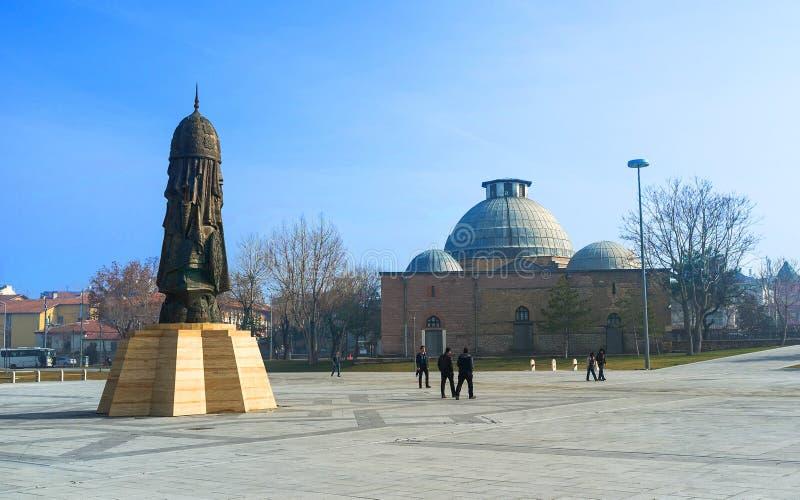 The modern monument in Konya stock image