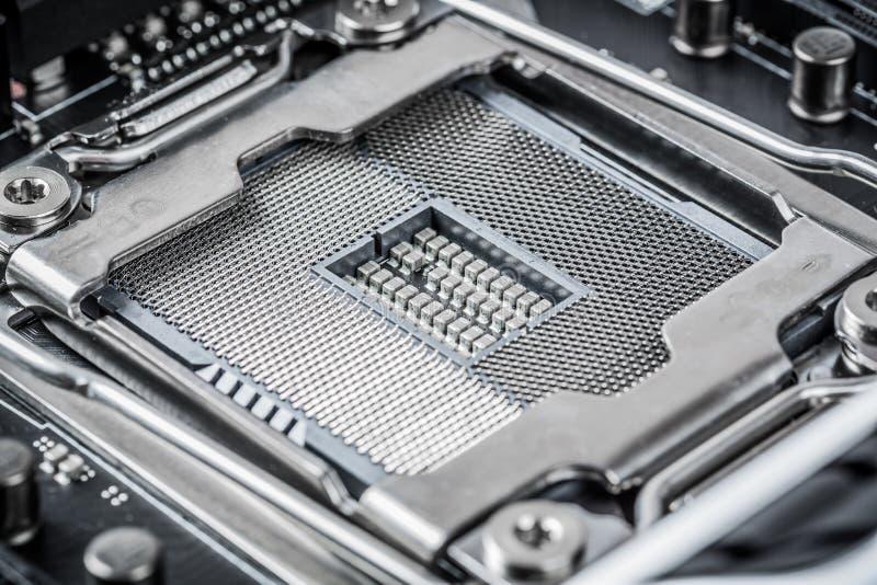 Modern motherboard stock photo