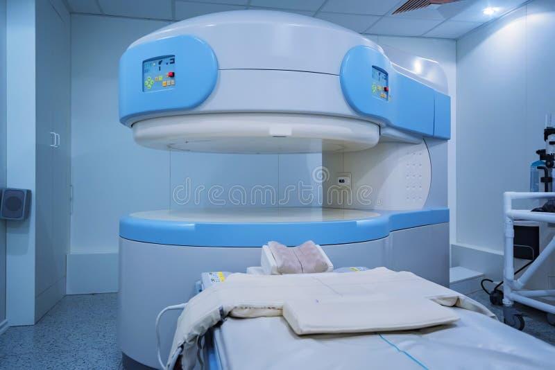 Modern MRI Scanner at hospital stock photos