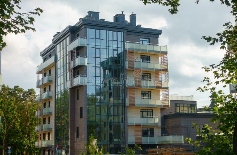 Modern multi-storey luxury housing stock images