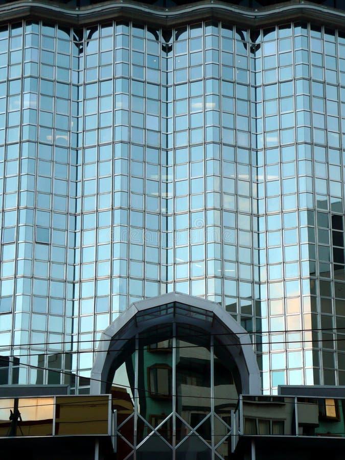 Modern Multi Story Building, New Zealand. Modern multi story building, glass facade, Wellington, New Zealand stock images