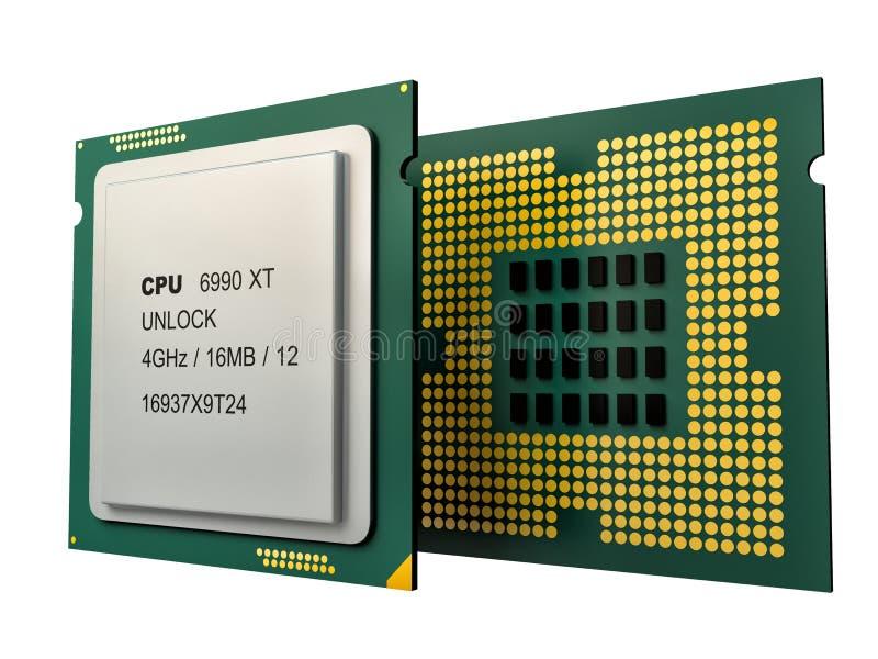 Modern multicore CPU vector illustration