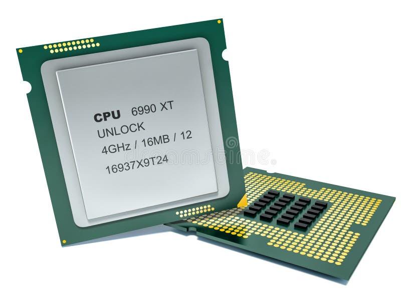 Modern multicore CPU stock illustration