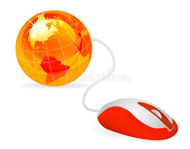 modern mus för dator royaltyfri illustrationer