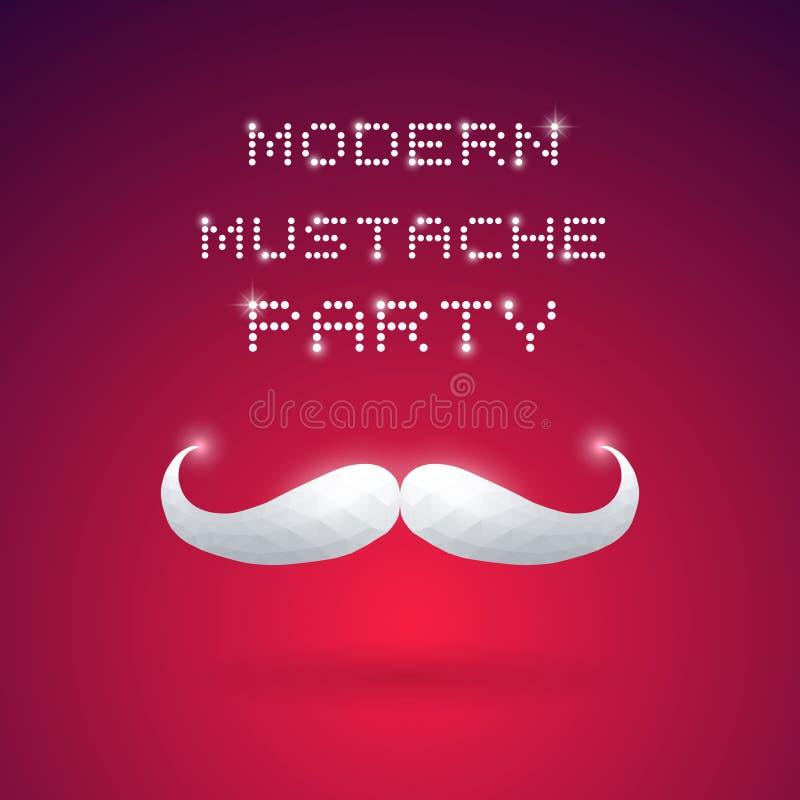 Modern Mustache Party vector illustration