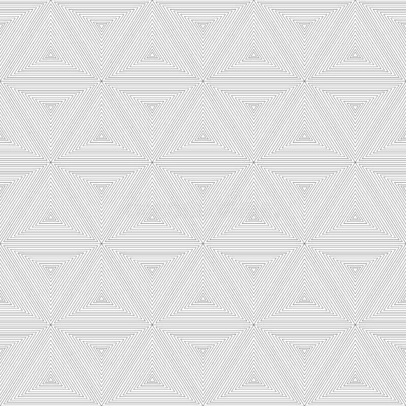 Modern naadloos abstract geometrisch patroon Kan voor achtergronden worden gebruikt en de pagina vult Webontwerp Vector illustrat vector illustratie
