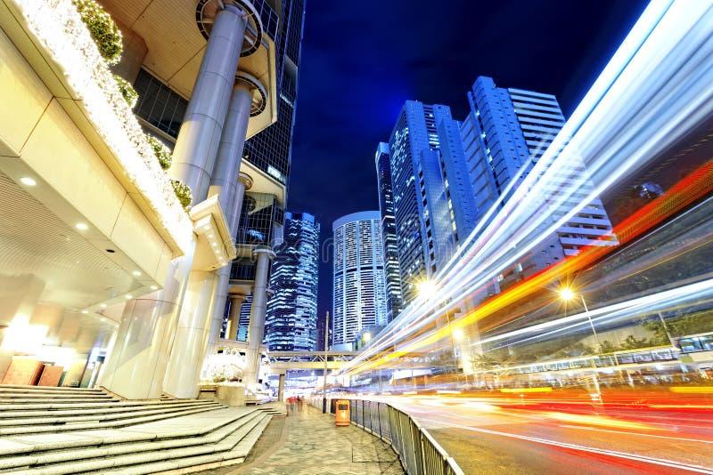 modern nattplats för stad royaltyfria foton