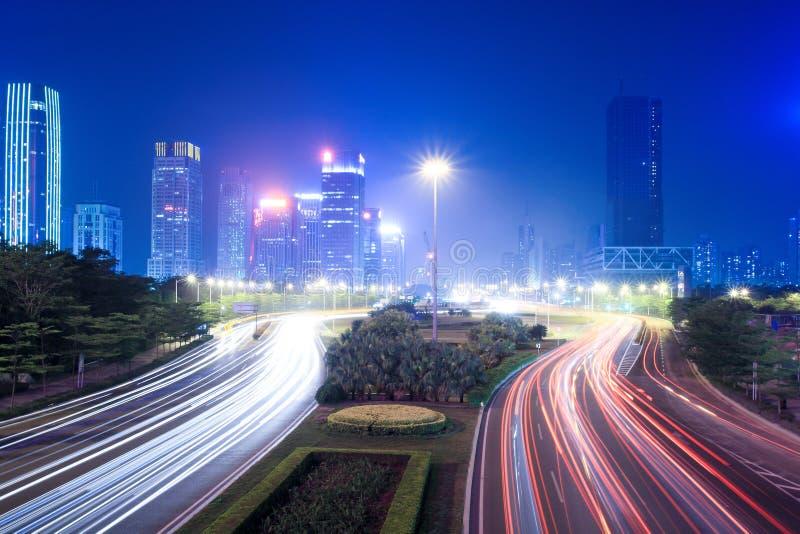 modern nattsikt för stad arkivbild