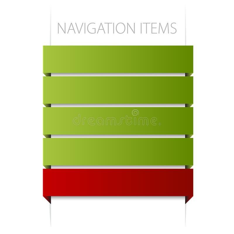 Modern navigation items royalty free illustration