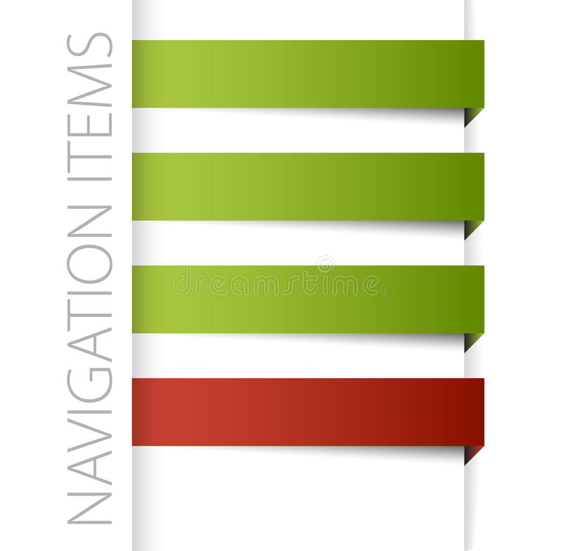 Modern navigation items. In right bar on white background (vector stock illustration
