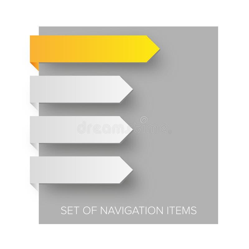 modern navigering för objekt royaltyfri illustrationer