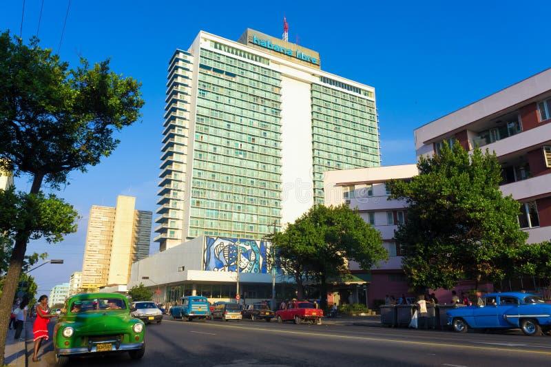 The modern neighborhood of El Vedado in Havana stock images