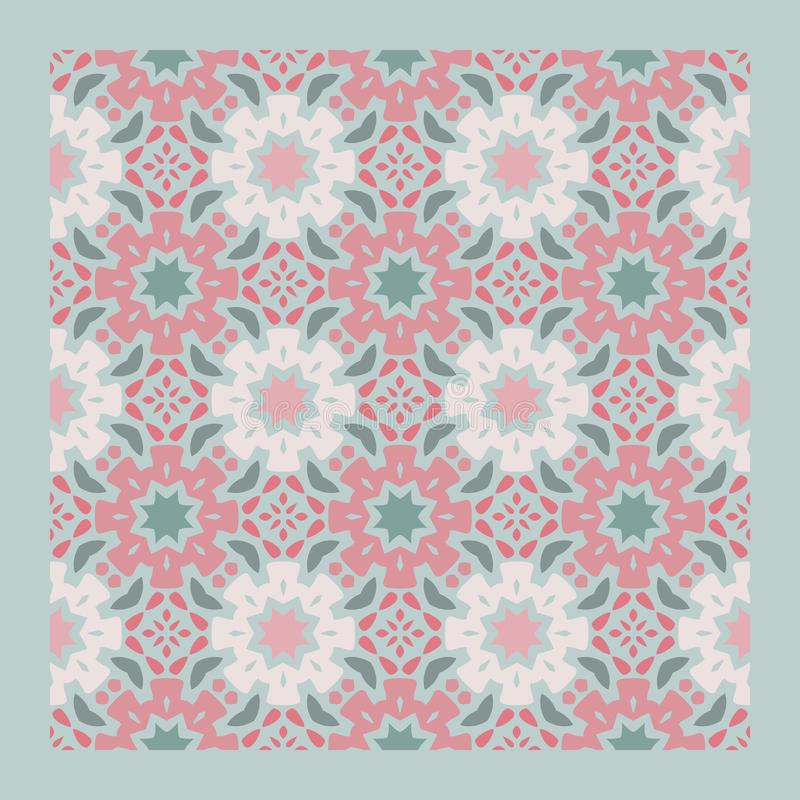 Netrivail abstract floral geometric pattern, background, vector seamless stock illustration