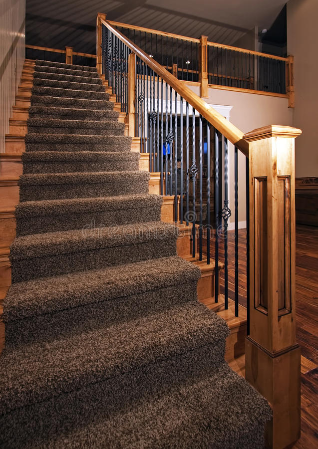 Modern new home staircase stock images