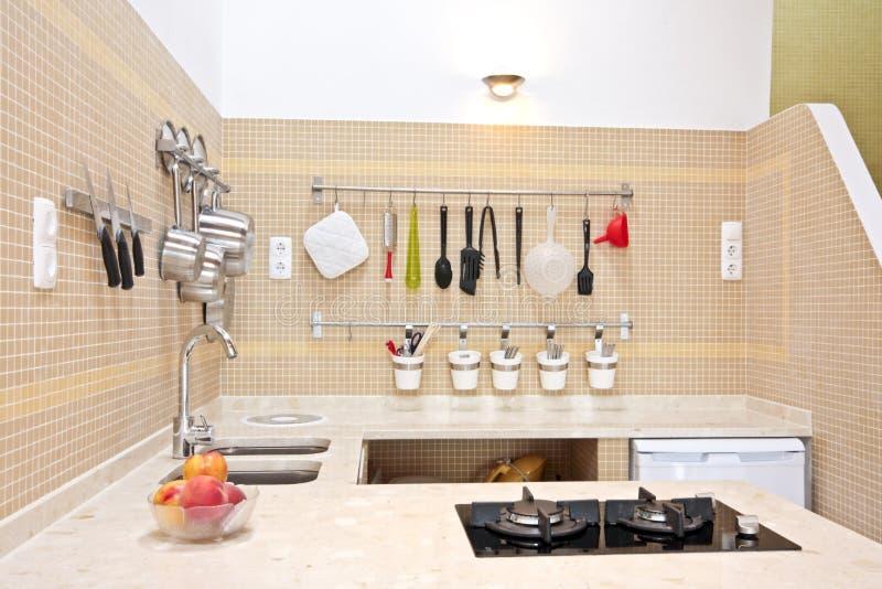 Modern New Kitchen Interior Stock Photo