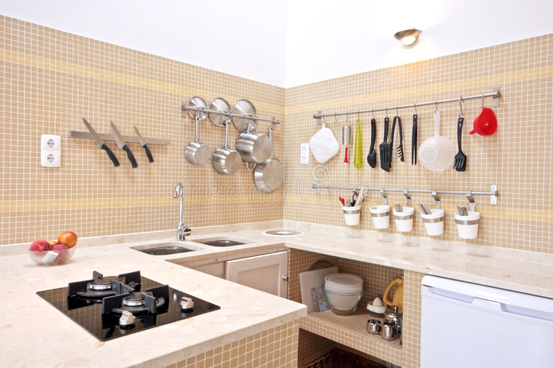 Download Modern New Kitchen Interior Stock Image - Image of indoors, apartment: 6475303