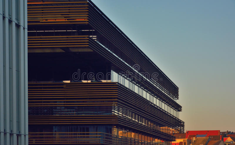 The modern new library of the city of Ghent royalty free stock image
