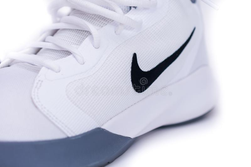 Modern Nike Mid-High Basketball Shoes royalty free stock photos