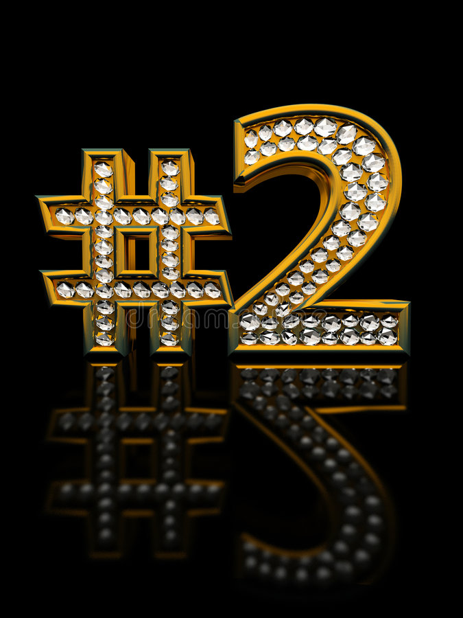 Modern numeral two vector illustration
