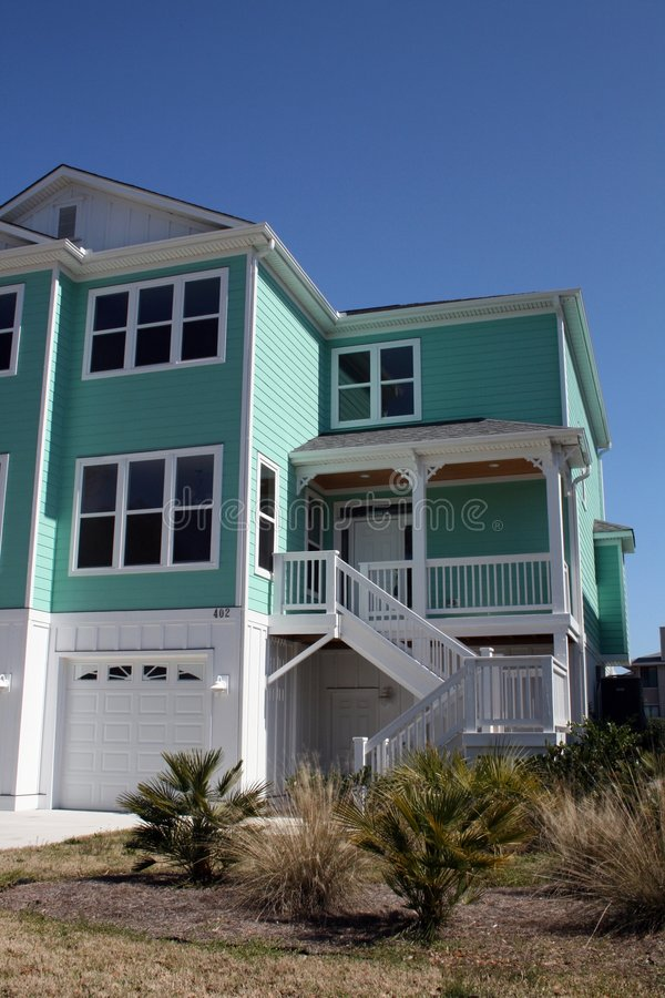 Modern Oceanfront Home stock photography