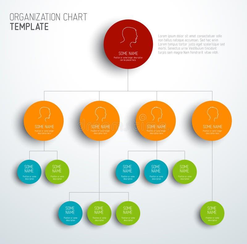 Modern och enkel för organisationsdiagram mall för vektor stock illustrationer