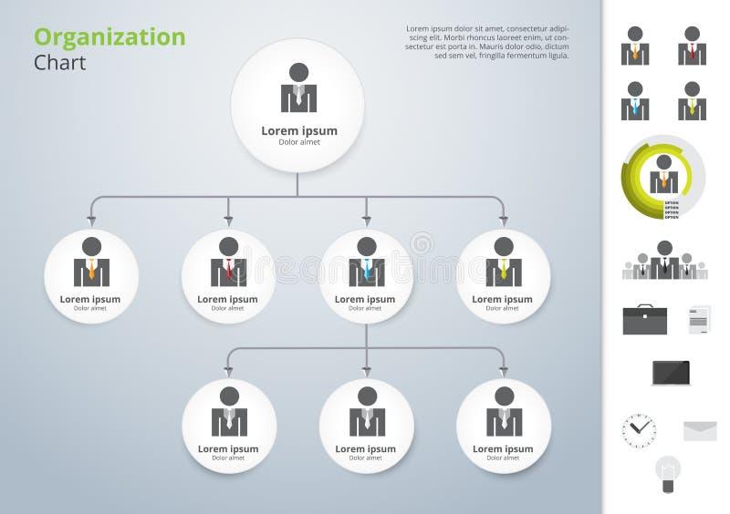 Modern och enkel för organisationsdiagram mall för vektor Vektor dåligt vektor illustrationer