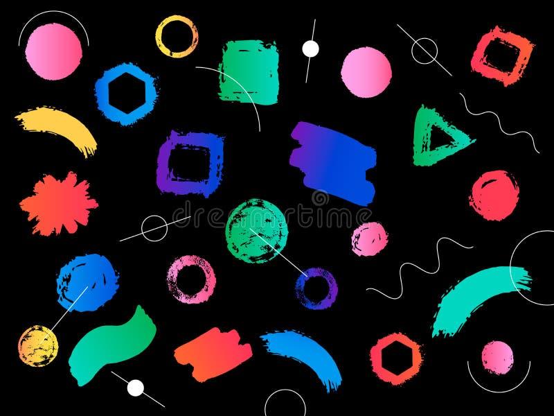 Modern och färgrik geometrisk bakgrund för Hipster med lutning s royaltyfri illustrationer