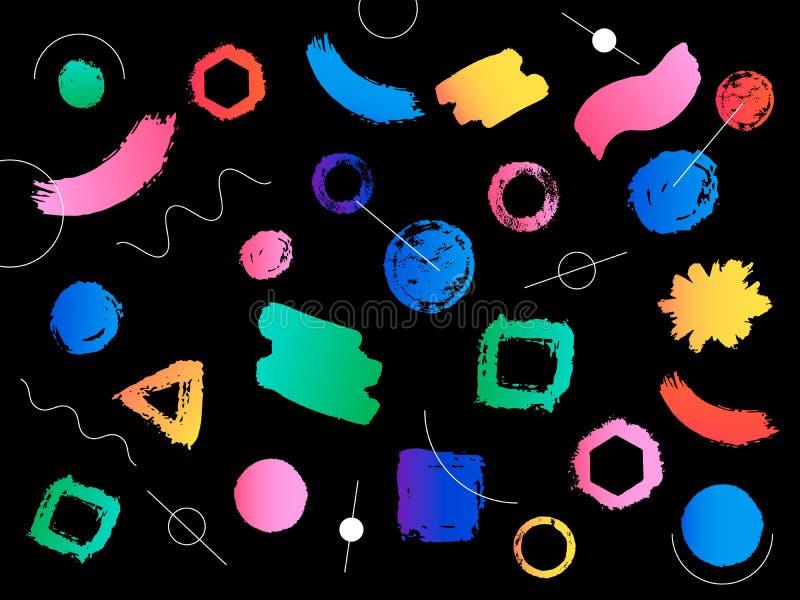 Modern och färgrik geometrisk bakgrund för Hipster med lutning s vektor illustrationer