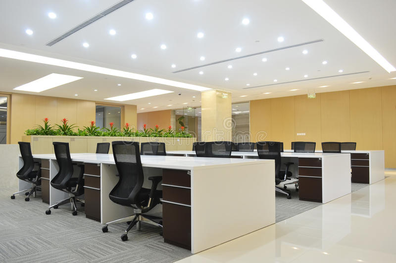 Modern office. Empty modern office with bright decoration stock photography