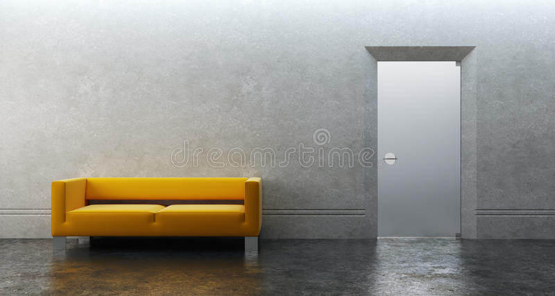 Modern office 3d render vector illustration