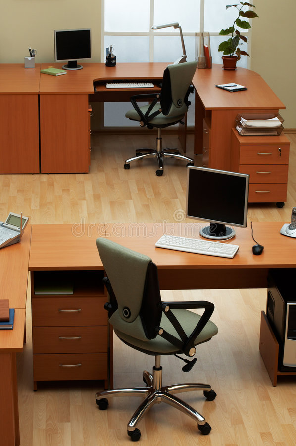 Modern office. Beautiful conditions at modern and light office royalty free stock photos