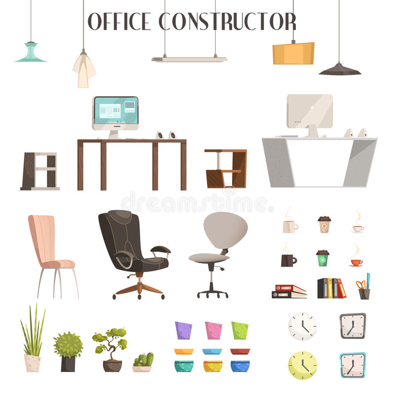 trendy office accessories. Download Modern Office Accessories Cartoon Set Stock Vector - Illustration Of Chair, Modern: 79663342 Trendy