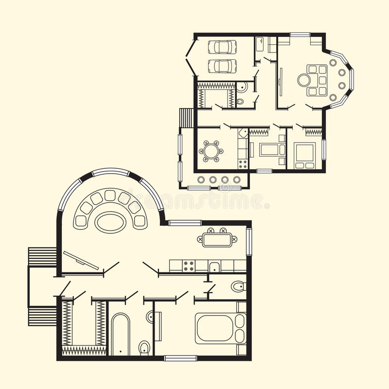 Architect Design Drawing modern office architectural plan interior furniture and