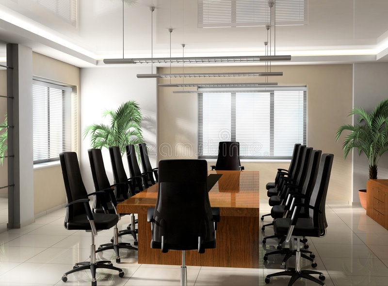 Modern Office boardroom royalty free stock images