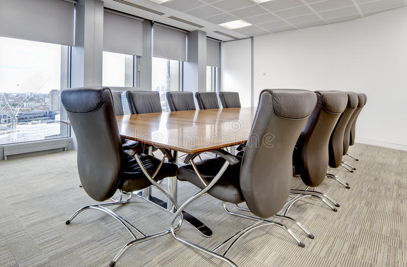 Modern office boardroom stock photography