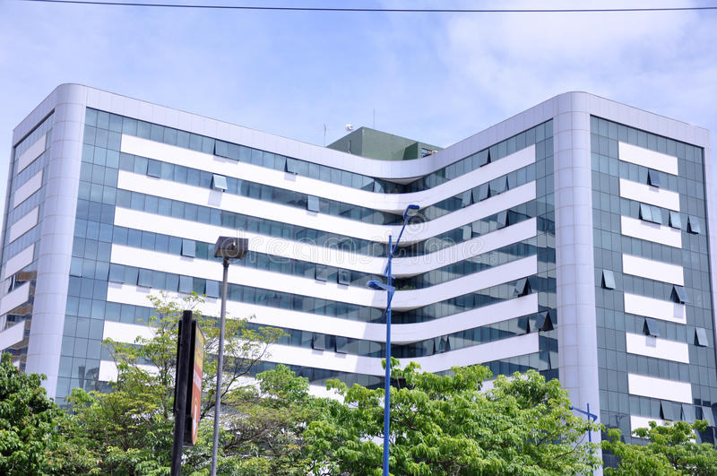 Modern office building. Modern high rise office building royalty free stock image